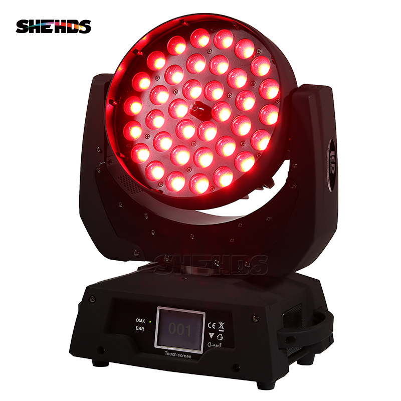 2 pcs/lot LED Zoom Lavage 36x12 w RGBW Couleur DMX Stade Écran Tactile LED Moving Head Light Wash avec 13/19 Canaux DMX Pour DJ Disco
