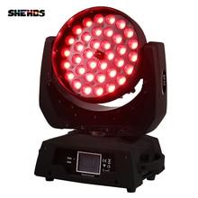 2 шт./лот светодио дный зум мыть 36×12 Вт RGBW Цвет DMX Сенсорный экран светодио дный перемещение головы мыть света с 13/19 DMX Каналы для DJ Disco