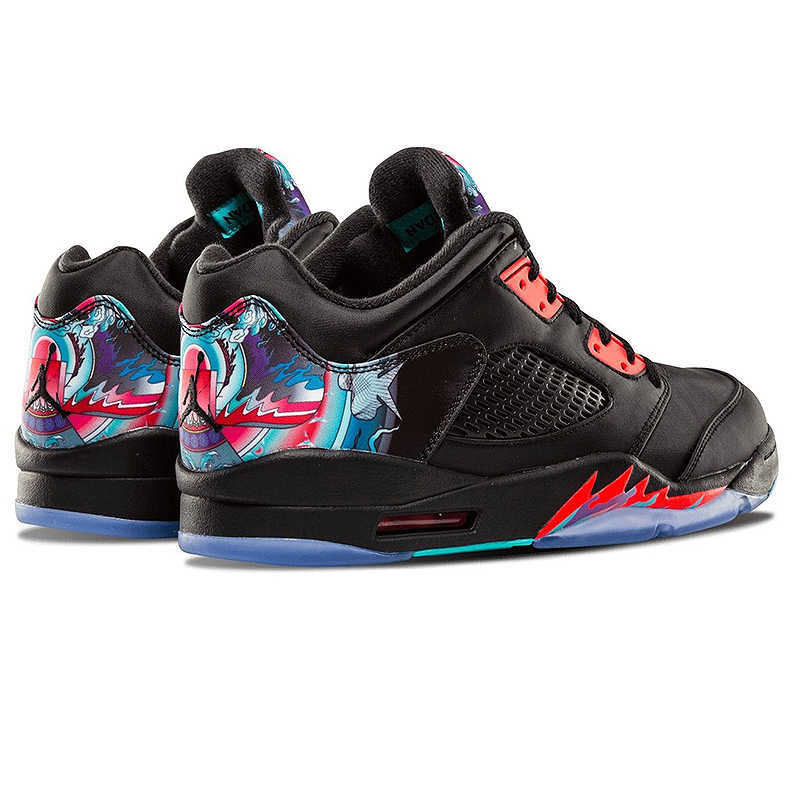 6d117f9b568 ... Original Nike Air Jordan 5 Retro Low CNY Chinese Kite Men Basketball  Shoes