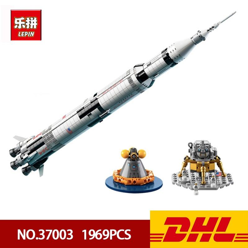 DHL Expédition Lepin Bloc 37003 ETATS-UNIS Apollo Saturn V Lanceur Modélisme 1969 pièces Briques Jouet Compatible