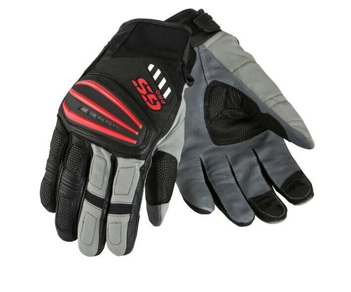 Motorcycle Motorrad Rally Black Red Leather Gloves FOR BMW GS1200 GS Cycling Gloves|Gloves| |  - title=