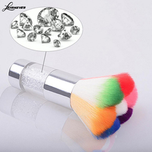 Nail Art Dust Remover Brush Cleaner For Acrylic & UV Nail Gel Powder Colorful M02821