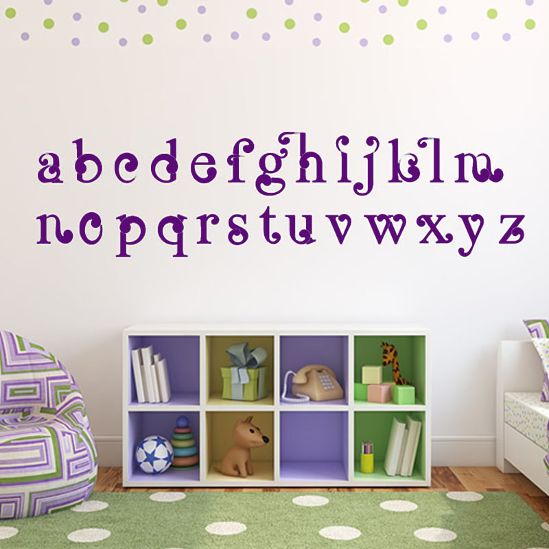 Vinyl Art ABC Alphabet Wall Stickers Kids Room Decorative DIY Nursery Wall  Decal Self Adhesive Wallpaper Home Decor  In Wall Stickers From Home U0026  Garden On ...