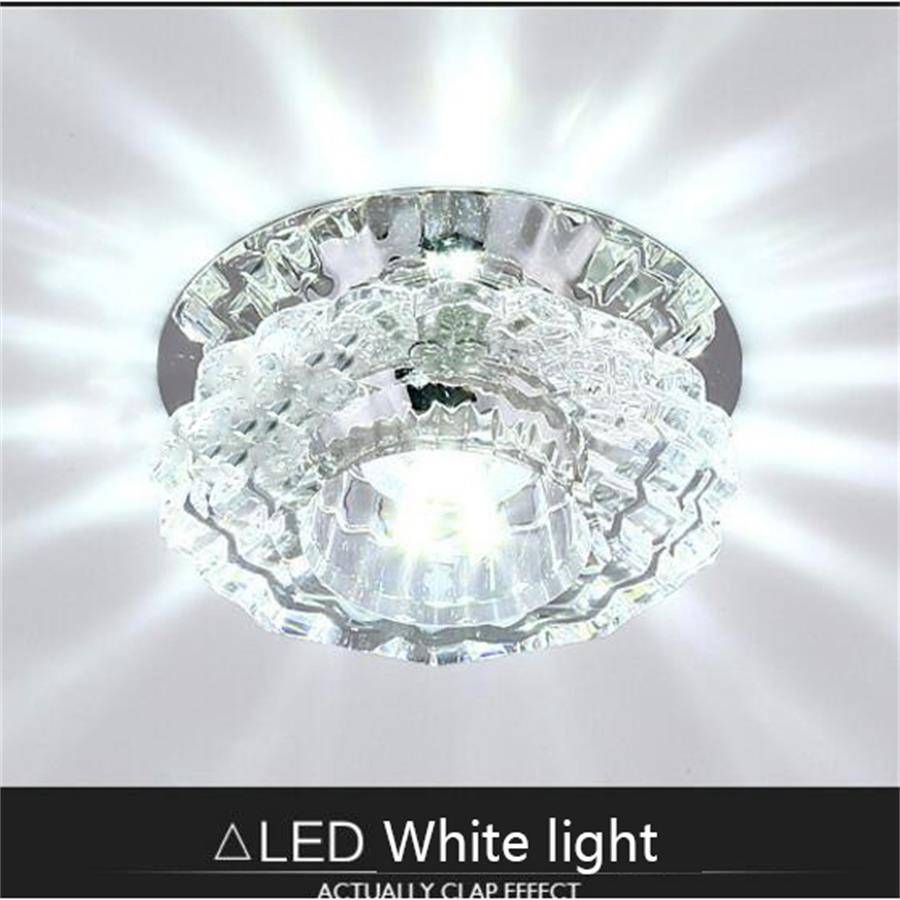 Surface Mounted Small Crystal Led Ceiling Light For Art Gallery