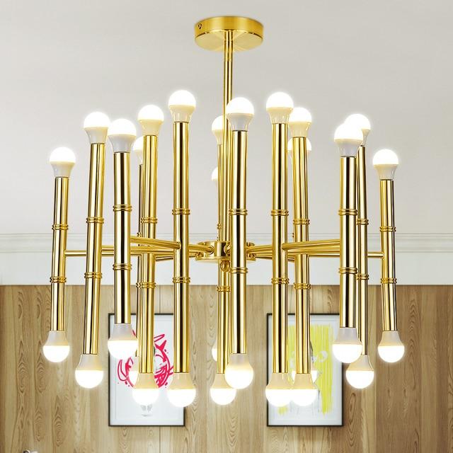 Modern Led Pendant Lights Home Decoaration Lighting Light lamp Fixtures For Living Room Dining Room Decoration AC85-265V Gold