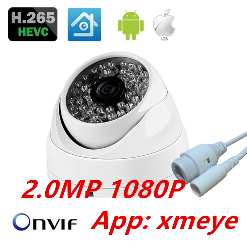 HD IP Camera H.265 Full HD 1080P 2MP onvif xmeye IP Camera Anti-Vandal Waterproof Dome Indoor/Outdoor Camera IP H.265 1080P камера наблюдения hokvs ip 1080p 2 mp full hd