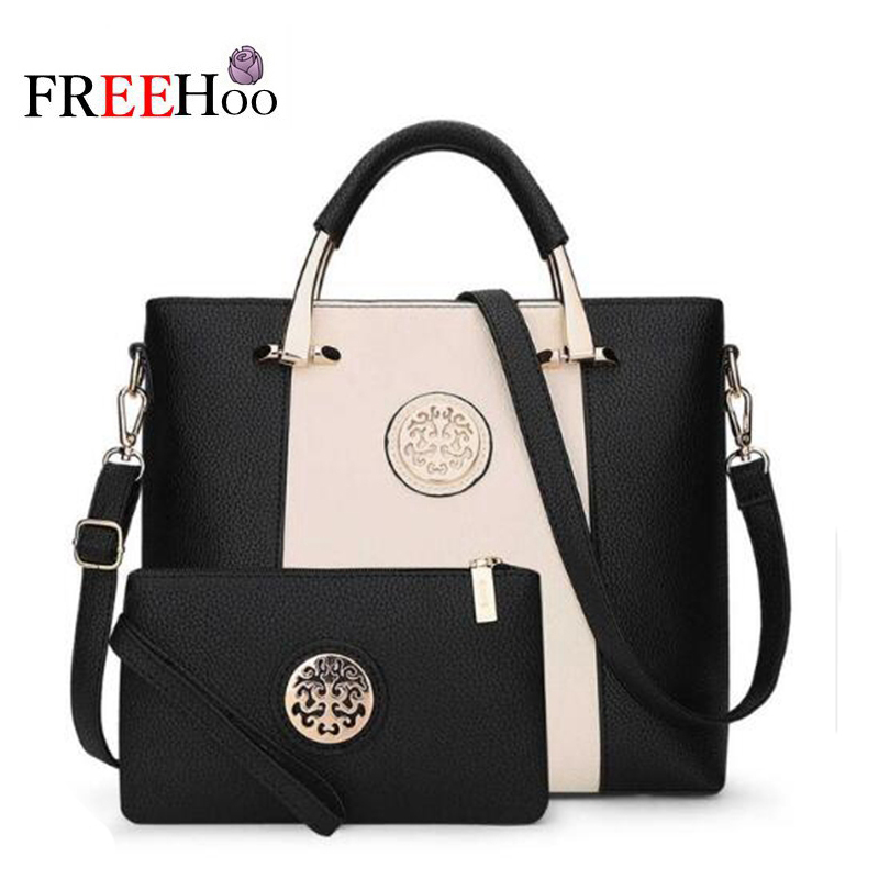 2018 New Style Two Bags/Set European And American Brand Designer Pu Women Shoulder Bags Handbag And Purse Women Bag