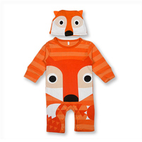 Autumn Cool Baby Boy Girl Clothes Carton Animals Long Sleeve One Piece Baby Romper Newborn Clothes