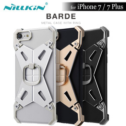 Nillkin Barde II Metal Aluminum Alloy Armor Case with Ring for Apple iPhone 7 / 7 Plus Cover Nilkin Bumper with Retail Package