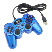New Wired USB 2 0 Blue Gamepad 12 Button Joystick Joypad Game Controller For PC Laptop