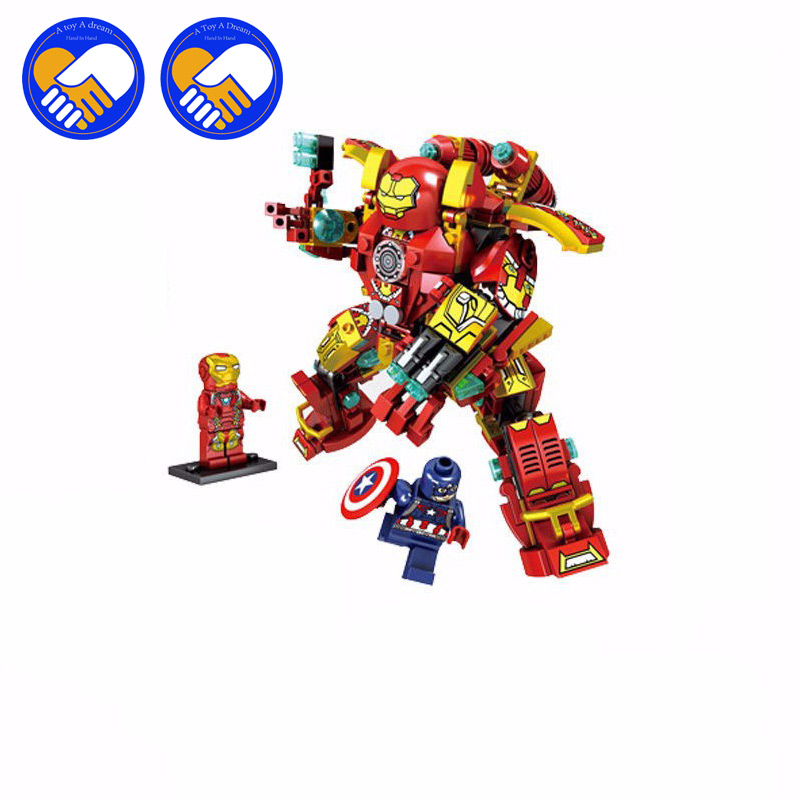 (A Toy A Dream)Avengers Iron Man MK1 MK37 MK46 Super Heroes Building Blocks MARK 46 Bricks Toys For Children Birthday Gift marvel super heroes avengers wonda iron man mk anti hulkbuster thor vision ultron assemble building blocks minifig kids toys