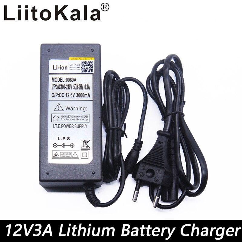 12,6 V 3A cargador, 12,6 V para el paquete de la batería del CCTV, 3A cargador para 12 V Litio 12 V cargador de batería