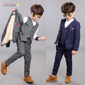 new arrival fashion boys kids 3PCS blazers boy suit for weddings prom formal spring autumn gray/blue dress wedding boy suits