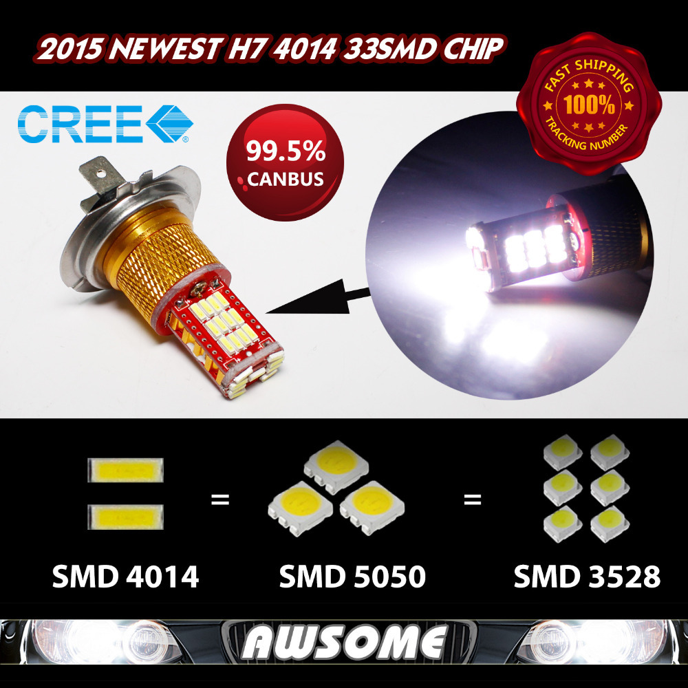Fast Shipping!! 4x H7 Car Motorcycle Fog Headlight Upgrade 33smd 4014 12V DC Canbus Error Free White 1100LM Super Bright 6es7284 3bd23 0xb0 em 284 3bd23 0xb0 cpu284 3r ac dc rly compatible simatic s7 200 plc module fast shipping