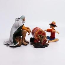 One Piece Luffy & Rayleigh Hành Động Hình 1/8 scale painted hình Cảnh Ver. Rayleigh & Luffy PVC hình Đồ Chơi Brinquedos Anime