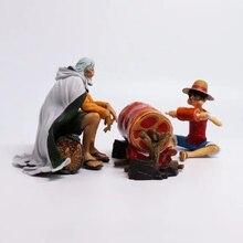 One Piece Ruffy & Rayleigh Action Figure 1/8 gemalte figur Szene Ver. Rayleigh & Luffy pvc abbildung Spielzeug Brinquedos Anime