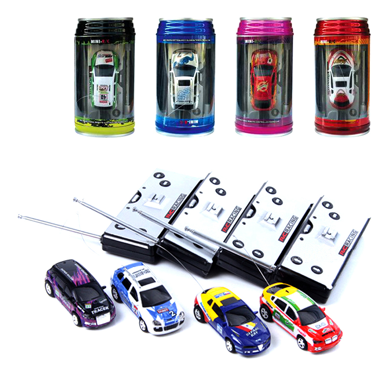 High Quality Multicolor Coke Can Mini Speed RC Remote Control Racing Car Vehicle Gift for Kids