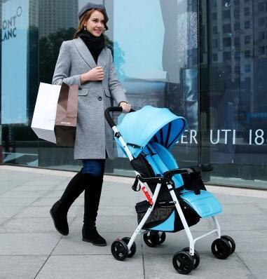 Más nuevo! luz cochecito portable puede sentarse o acostarse a evitar amortiguación plegable del niño del bebé mano empujando un cochecito paisaje