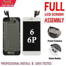 아이폰 6 플러스 6 p lcd 디스플레이 터치 디지타이저 교체 pantalla 홈 버튼 카메라 a1549에 대 한 aaa 전체 어셈블리 lcd 화면