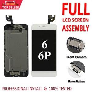 Image 1 - 아이폰 6 플러스 6 p lcd 디스플레이 터치 디지타이저 교체 pantalla 홈 버튼 카메라 a1549에 대 한 aaa 전체 어셈블리 lcd 화면