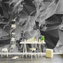 Papel pintado moderno personalizado 3d estereoscópico moderno interior decoración del hogar mural de fondo real alto grado vintage papel tapiz abstracto