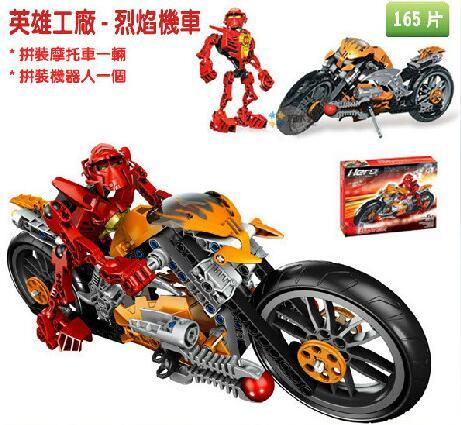 16DECOOL 9368 DIY Hero Factory STAR SOLDIER WAR furno bike motorcycle building blocks sets educational children toys