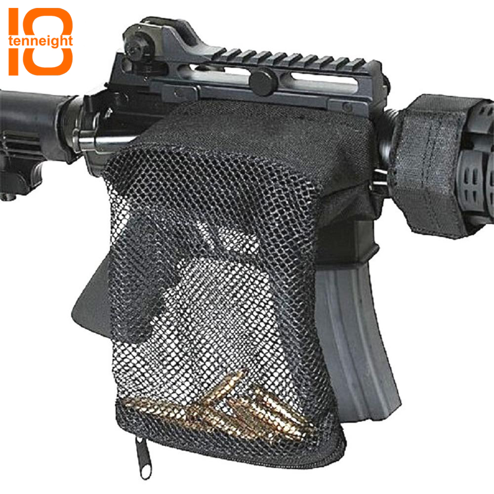 Tenneight Hunting Tactical Rifle Brass Shell Catcher Zipper Military Ar-15 Ammo Holster Pouch Nylon Mesh Bag Hunting Accessories Sale Price