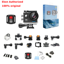 Eken 4k câmera de ação original eken h9/h9r, com controle remoto, ultra hd, 4k, wifi, 1080p, 60fps, esportes câmera profissional para drone à prova d água