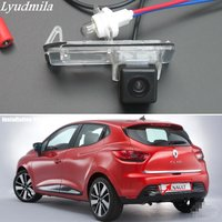 Lyudmila FOR Renault Clio 4 IV 2012~2016 Car Back up Rear View Camera / HD CCD RCA NTST or PAL / License Plate Lamp OEM