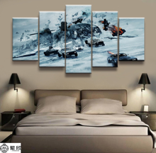 Hot Sales Without Frame 5 Panels Picture Fate of the Furious Canvas Print Painting Artwork Wall Art painting Wholesale