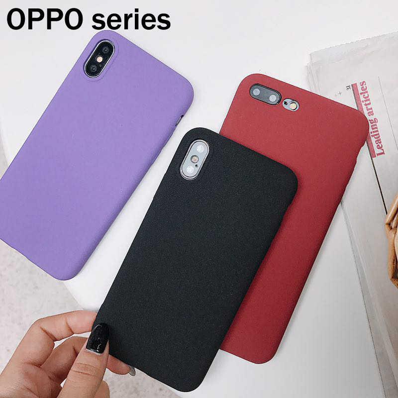 For OPPO R7 R7s R9 R9s R11 R11 Plus R15 A31 A33 A53 A57 A59 F5 A73 A79 A83 A3 A5 TPU Cover Matte Rock Sand Texture Case