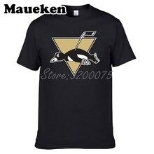 726d8de10dc8 Men style tired T-Shirts Pittsburgh T Shirt O-Neck Cotton Penguins Short  Sleeve