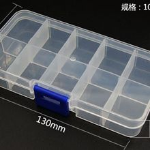 10pcs 10Slots Cells Colorful Portable Jewelry Tool Storage Box Container Ring Electronic