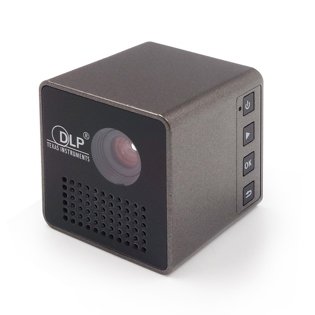 P1 DLP LED Projector 30 Lumens 640 x 360 Pixels 1080P Sync Screen Home Theater Ultra Mini Micro Projector