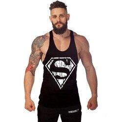 Superman singlets mens 2016 new men tank tops shirt bodybuilding equipment fitness men s golds stringer.jpg 250x250