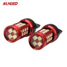 2 pcs T20 7440 7443 W21/50 W 36SMD 3030 LED Car Turn Signal luz de Estacionamento luzes de Freio Auto nevoeiro Lâmpadas 12 V/24 V