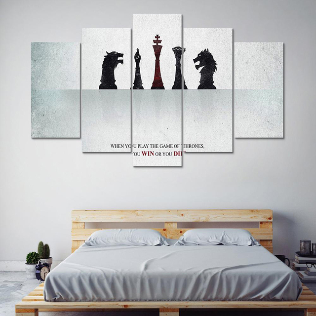 Wall Art Home Decor Modern 5 Panel Movie Game Of Thrones Living Room ...
