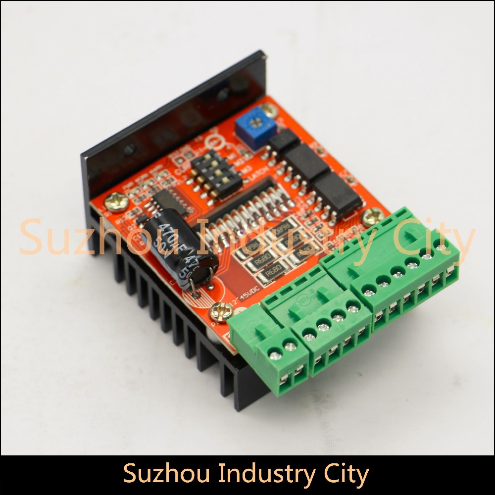 CNC single axis cnc stepper motor driver board TB6600 4.5A 12-48V DC for stepping motor motion controller. 4a integrated stepper motor controller pc control single axis 42 57 stepping motor driver cnc