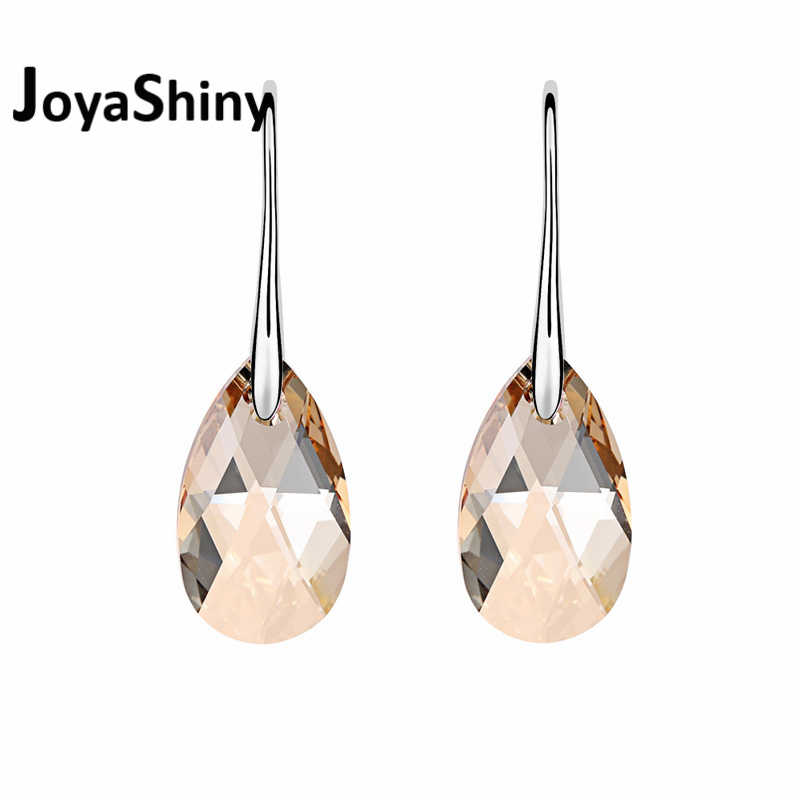 Original Crystal From Swarovski Classic Drop Earrings Rhinestone Hanging Pendientes Jewelry For Women Mother's Day Gift