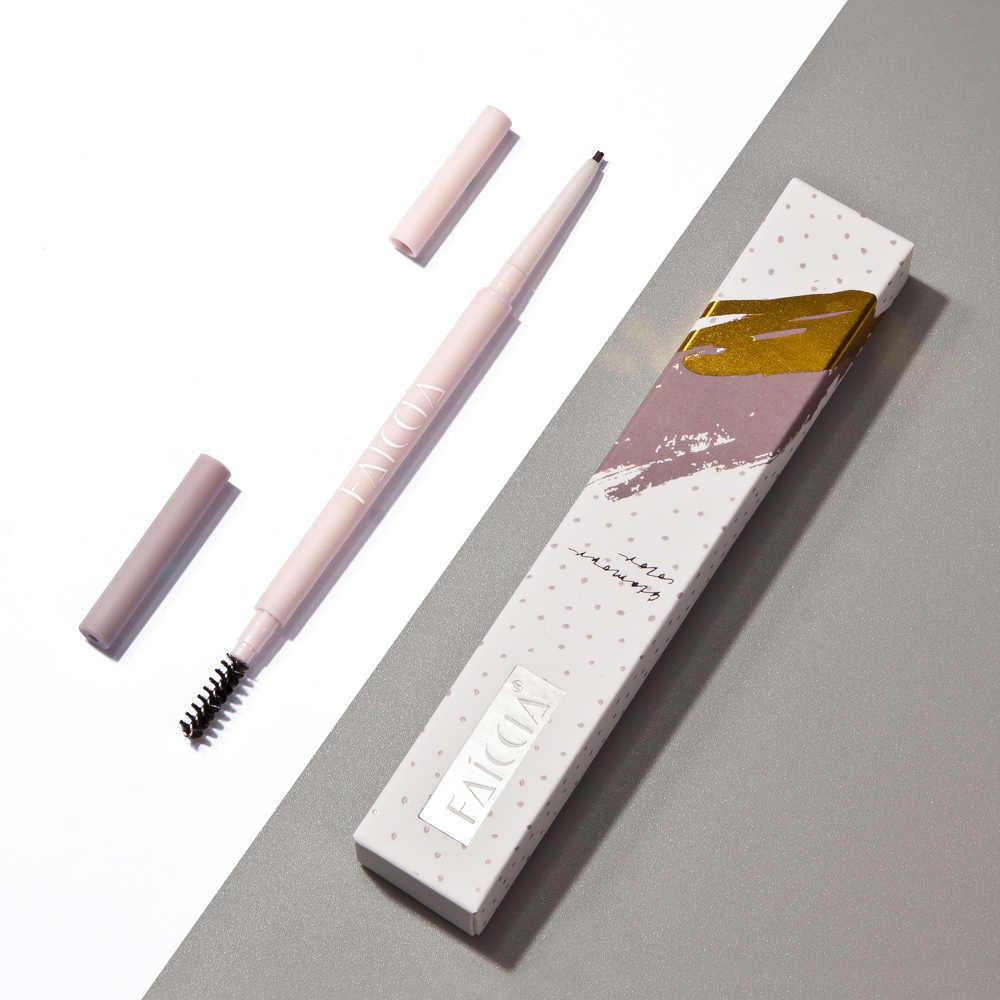 3 cores natural lápis de sobrancelha com escova rosa longa duração à prova dpink água matiz cosméticos olho sobrancelha maquiagem ferramentas tslm1