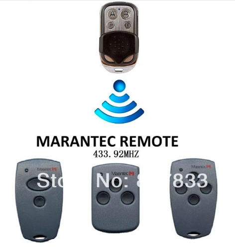 Marantec M3-2423 Remote replacement , 2- Button Remote 433MHz free shipping