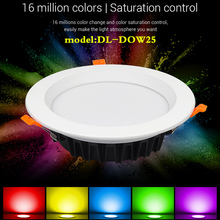 Miboxer DL-DOW25 Dimmable DALI 25W RGB+CCT LED Downlight Compatible with DP3 touch panel/DL-POW1 Output DALI Bus Power Supply