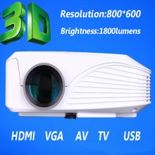 mini portable overhead 3d mini led proyector full hd 1080p high brightness and resolution