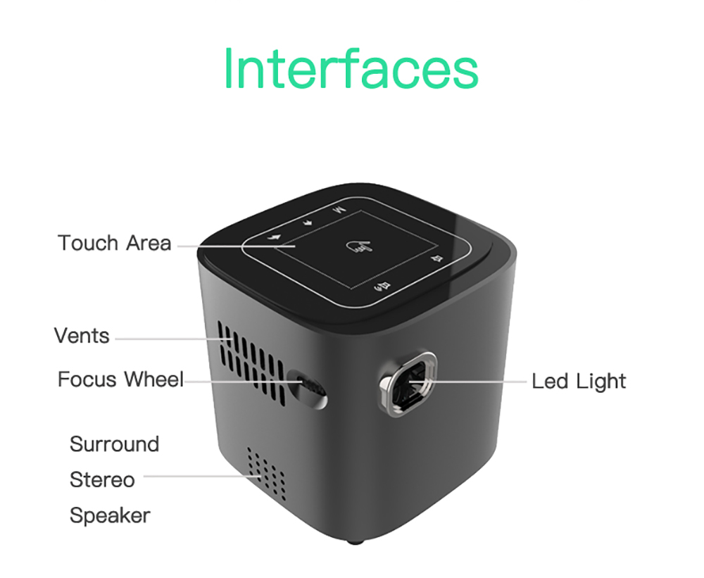 CRENOVA Newest DLP Wifi Bluetooth Mini Projector With Android 7.1.2OS  For Home Theater 17