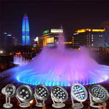 RGB Underwater Swimming Pool Light Multi-Color 12V 6w 12W 18w 24w Outdoor Lighting Waterproof Fountain Waterfall
