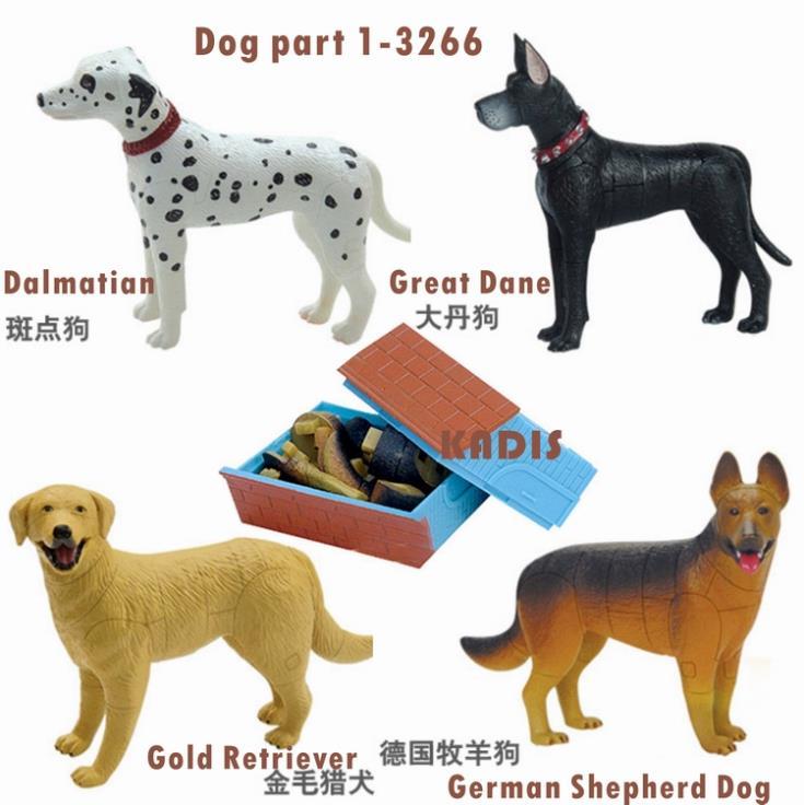 ⊱Animal encantador rompecabezas 4 unids 3D perro rompecabezas 3266 ...