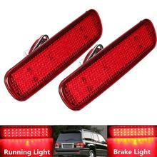 2 sztuk LED tylne światło na zderzak światła przeciwmgielne reflektor tylny hamulec Stop lampa dla Toyota Land Cruiser dla Lexus LX470