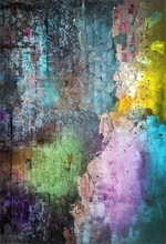 Laeacco Colorful Old Brick Wall Graffiti Party Child Portrait Photographic Backgrounds Photography Backdrops For Photo Studio