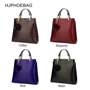 Image 5 - HJPHOEBAG Womens large capacity crocodile pattern handbag casual crocodile shoulder bag Messenger bags ladies bolso mujer YC194