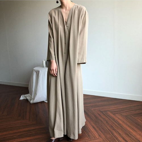 New Summer Dress Women Cotton Linen Oversize Long Sleeve Dresses Female Dress Long Shirt Dress Boho Robe Femme Vestido